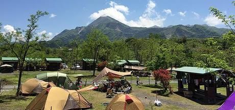 秩父巴川オートキャンプのテントサイトの様子