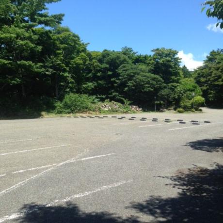 芦ノ湖キャンプ村の駐車場