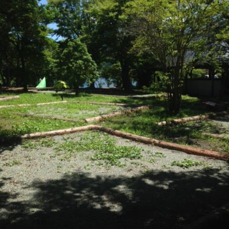 芦ノ湖キャンプ村のテントサイト
