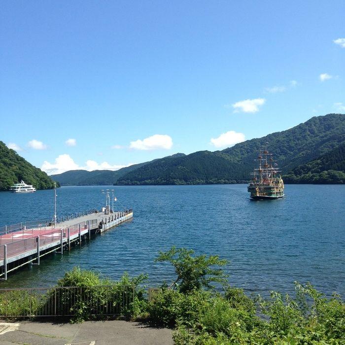 芦ノ湖の様子