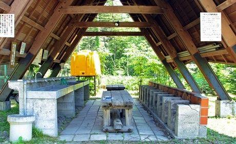 然別峡野営場の炊事棟