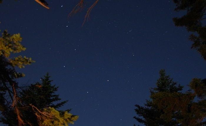 然別峡野営場の夜空