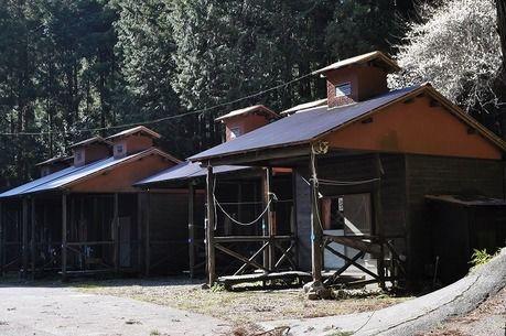 河津七滝オートキャンプ場のコテージ外観