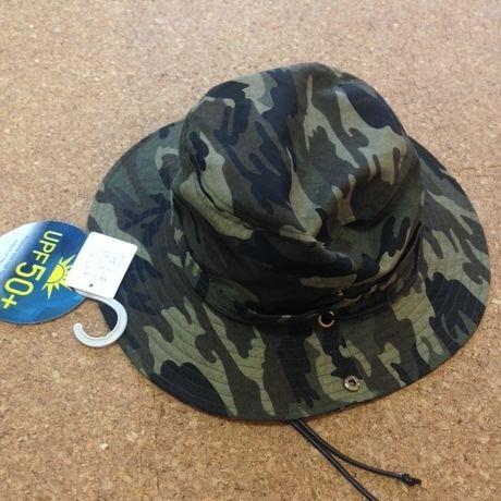 迷彩柄の帽子
