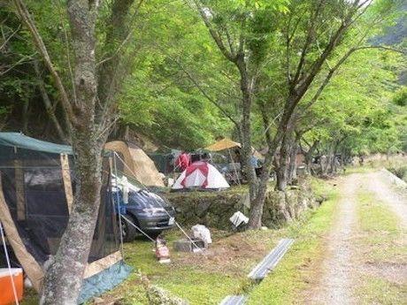 ネイチャービレッジおおたきのキャンプ場の様子