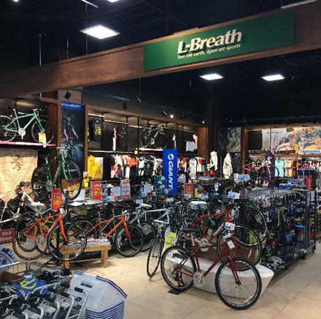 エルブレスビバモールさいたま新都心店の店内の自転車コーナー