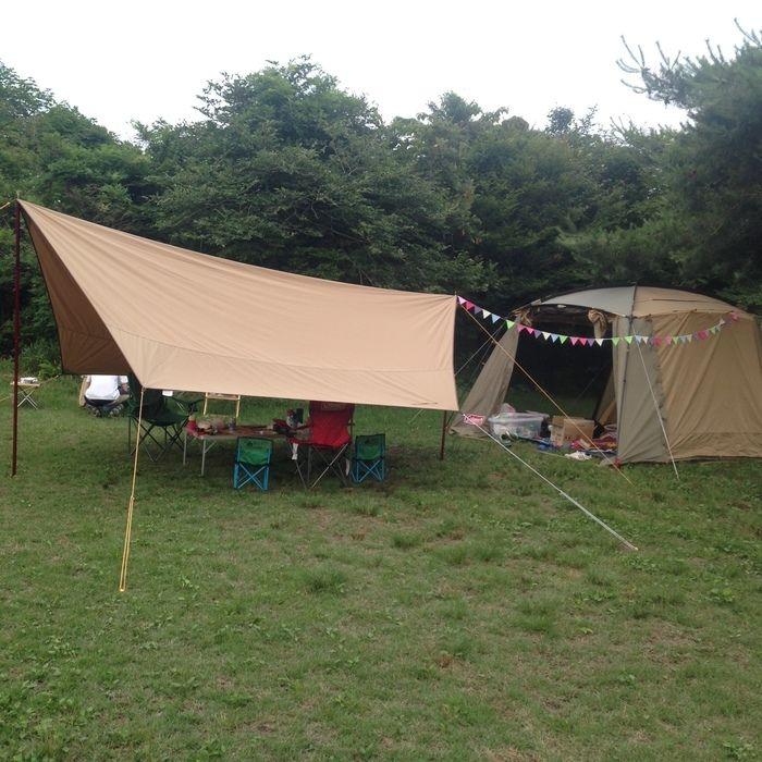 朝霧ジャンボリーオートキャンプ場のキャンプサイトの様子