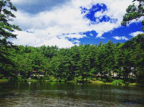 おおぐて湖キャンプ場の湖