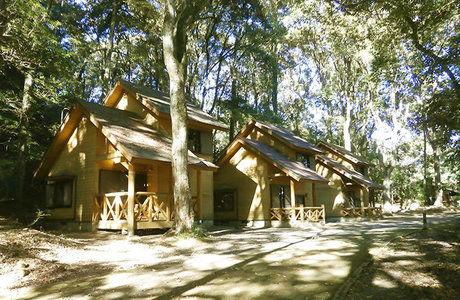 御池野鳥の森公園キャンプ村のコテージ外観