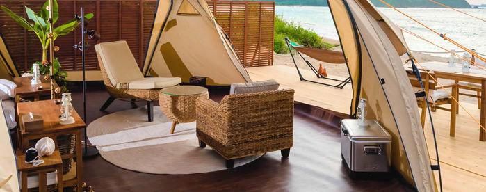 沖縄かりゆしビーチリゾート・オーシャンスパのテント内