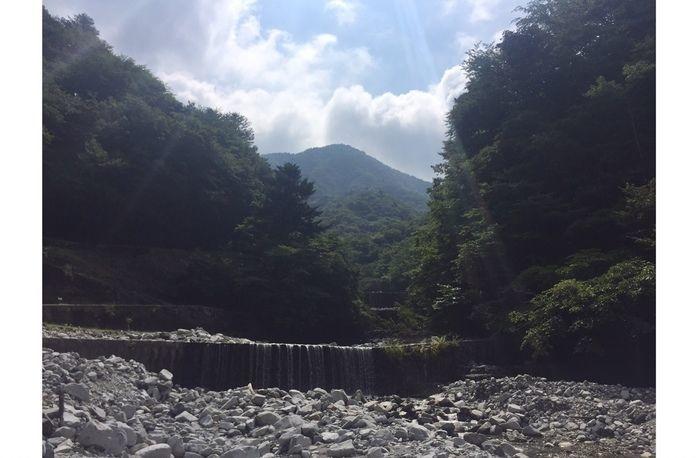 ウェルキャンプ西丹沢の自然豊かな河原
