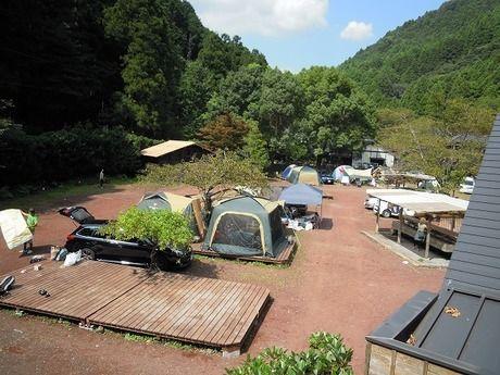 河津七滝オートキャンプ場の全体像
