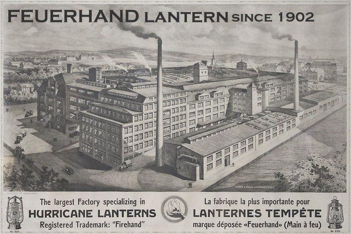 フュアハンドのランタンの広告