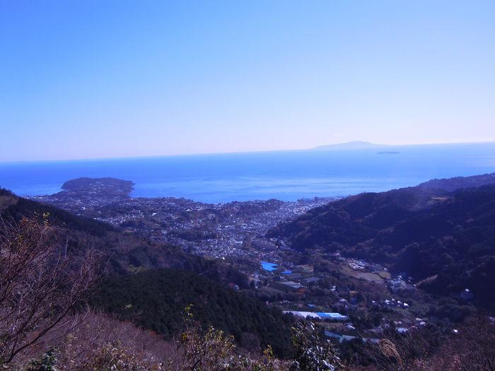 幕山のハイキングコースからの眺望