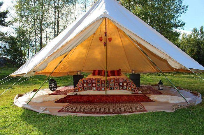 キャンバスキャンプのグランピングサイト