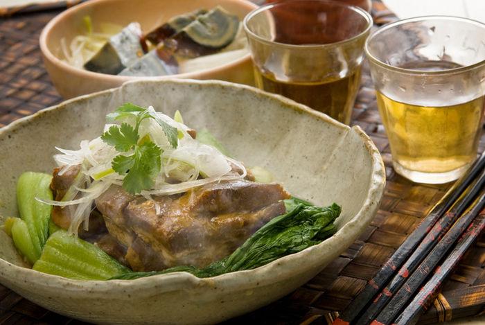 豚バラ肉のおろし煮