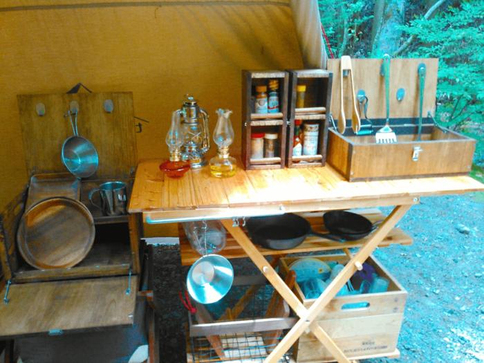 自作ギアを使ったキッチン