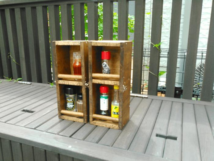 自作の調味料ボックス