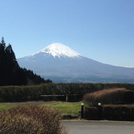 キャンプ場から見える富士山