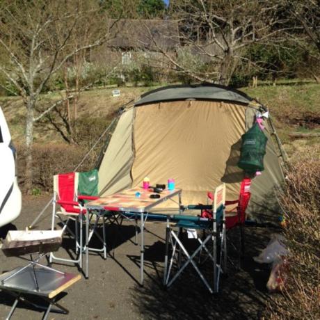 設営完了したキャンプサイト
