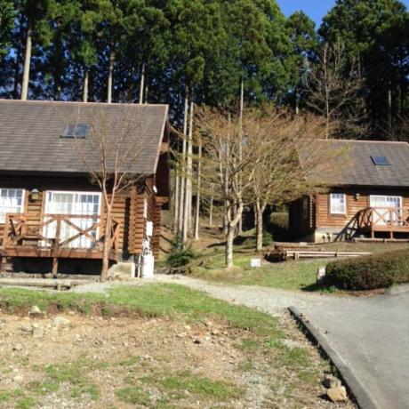 乙女森林公園第2キャンプ場のコテージ