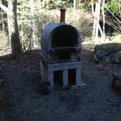 炊事場の石窯