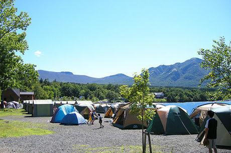 モラップキャンプ場でのキャンプの様子