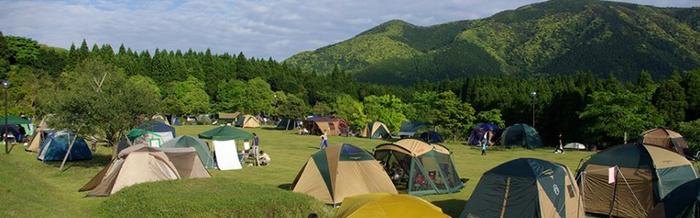 オートキャンプ森のかわなべでのキャンプの様子