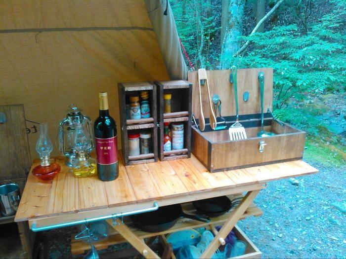 キャンプのキッチンの様子