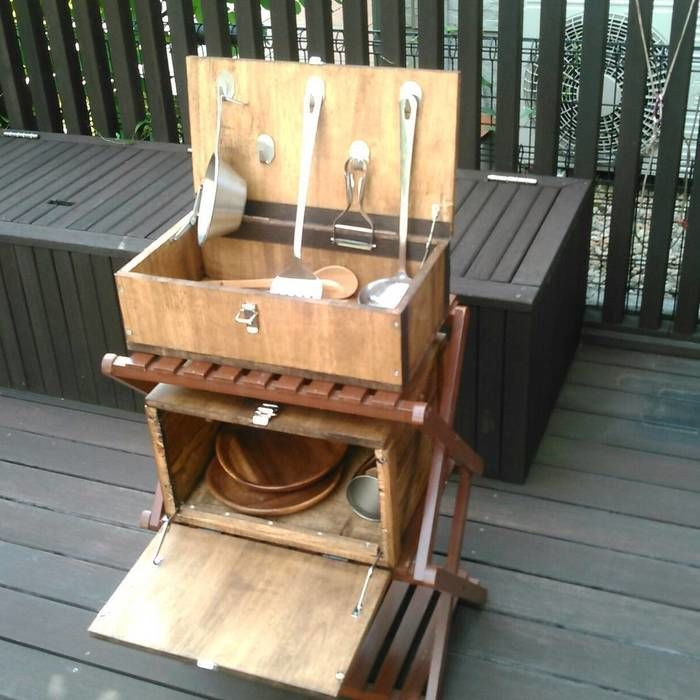 木製の調理器具BOX
