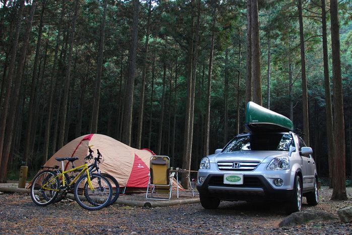 キャンプ inn 海山のテントサイト