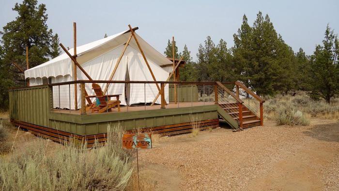 キャンプサイトに設営されたベッケルのテント