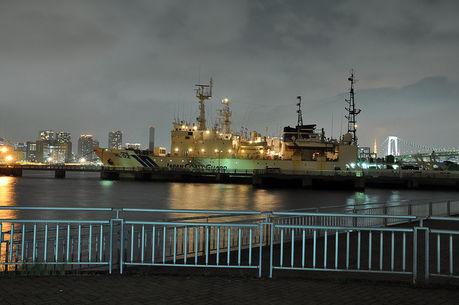 潮風公園からの夜景の写真