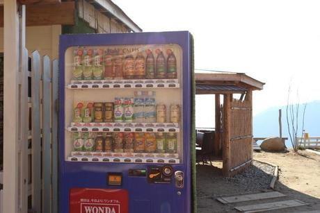 ほったらかしキャンプ場の自動販売機