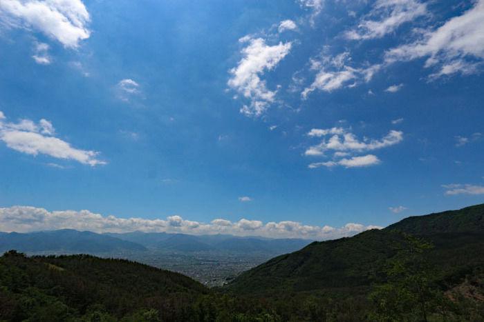 甲府盆地の絶景