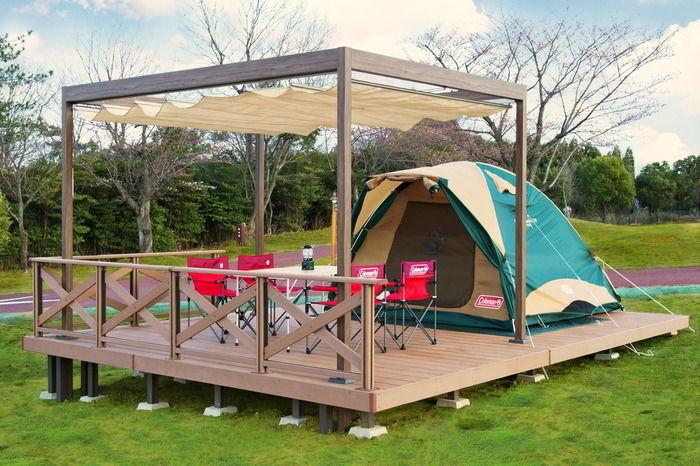 鈴鹿サーキットファミリーキャンプのオートキャンプサイト