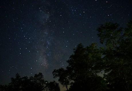 しらびそ高原山岳オートキャンプ場から見ることができる星空