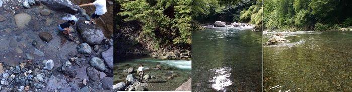 久保キャンプ場の綺麗な川の写真