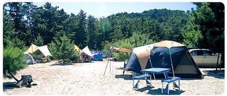 吹上浜キャンプ場のキャンプサイト