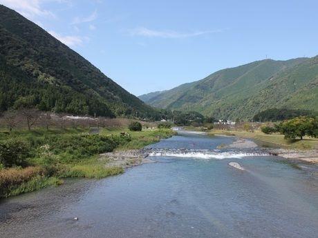 粕川オートキャンプ場近くの粕川