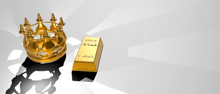 金の王冠と金塊