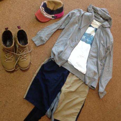 キャンプのメンズファッションコーデ コーディネート1