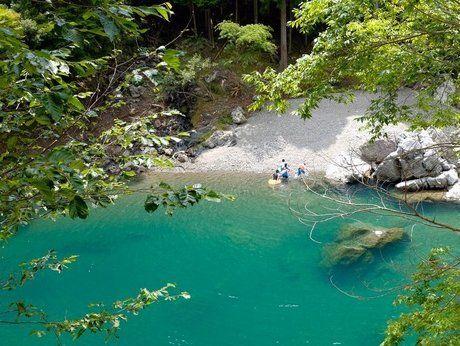 オートキャンプ とちお近くのの渓流「天の川」