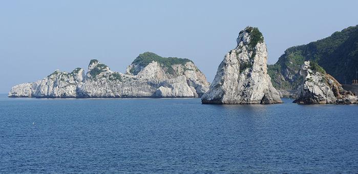 白崎海洋公園から見ることができる瀬戸内海の絶景