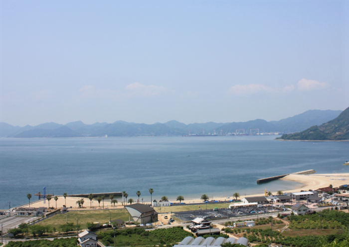 瀬戸田サンセットビーチ 海が広がる風景