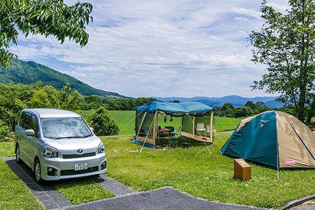 蒜山高原キャンプ場のテントサイトの写真