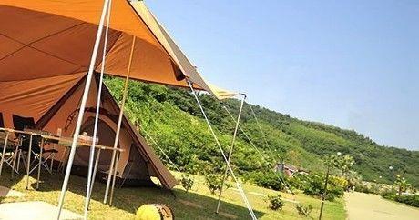 大佐山オートキャンプ場のテントサイトの写真