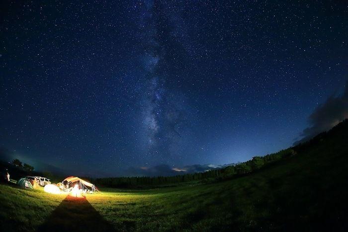 夜のボイボイキャンプ場