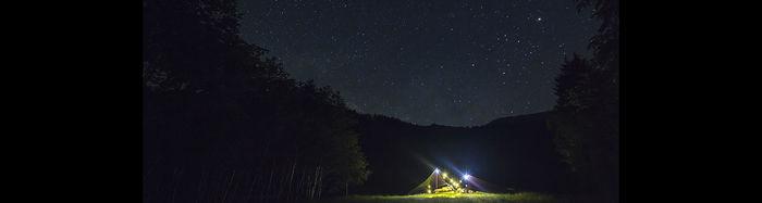 夜の四徳温泉キャンプ場
