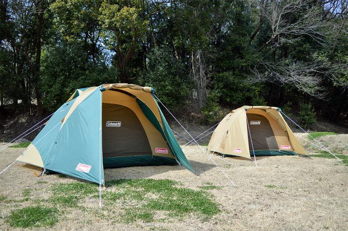 並んで設営された大小のテント